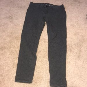 American Eagle super stretch grey jeggings